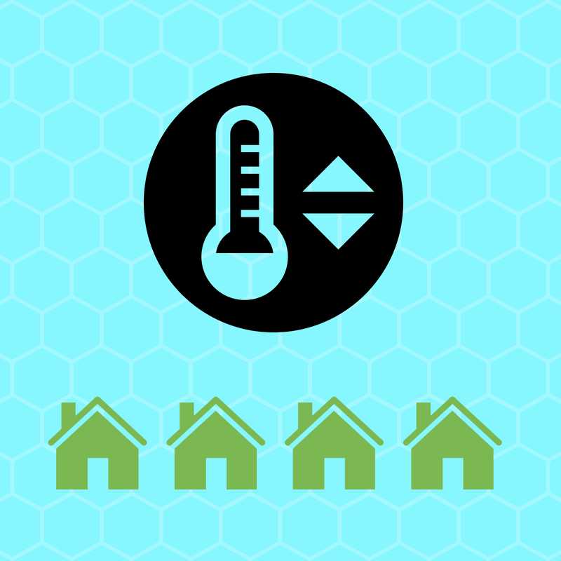 Lowering the temperature at home by 1 degree can save 10% on the bill
